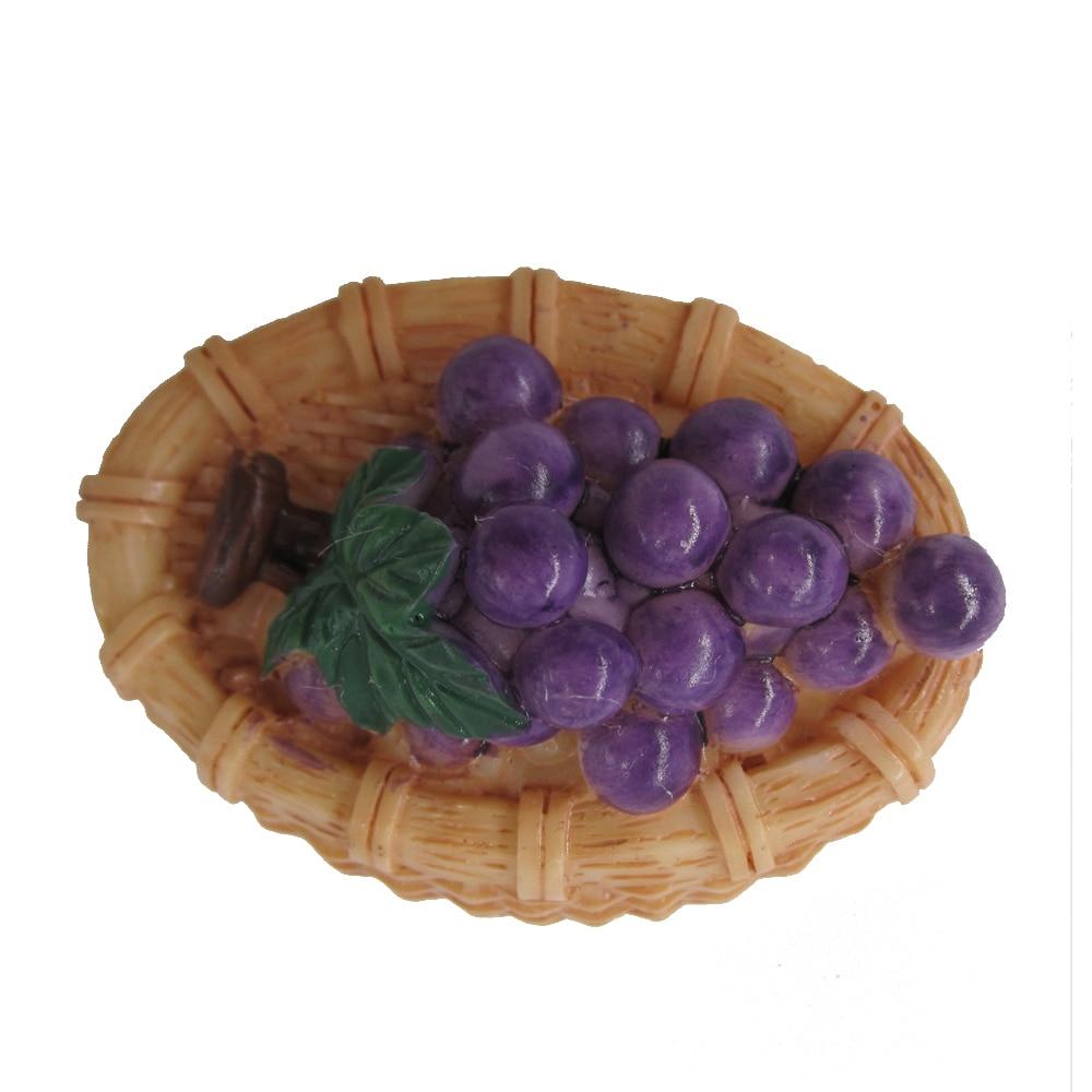 Decoración del Hogar decoración del Hogar imán de nevera Souvenir pegatinas imanes de nevera comida de imitación fruta uvas