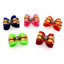 20pcs Dog Pet Hair Bows rubber bands  Pears Dog Hair Accessories Exquisite dog Holiday gifts Pet Sup