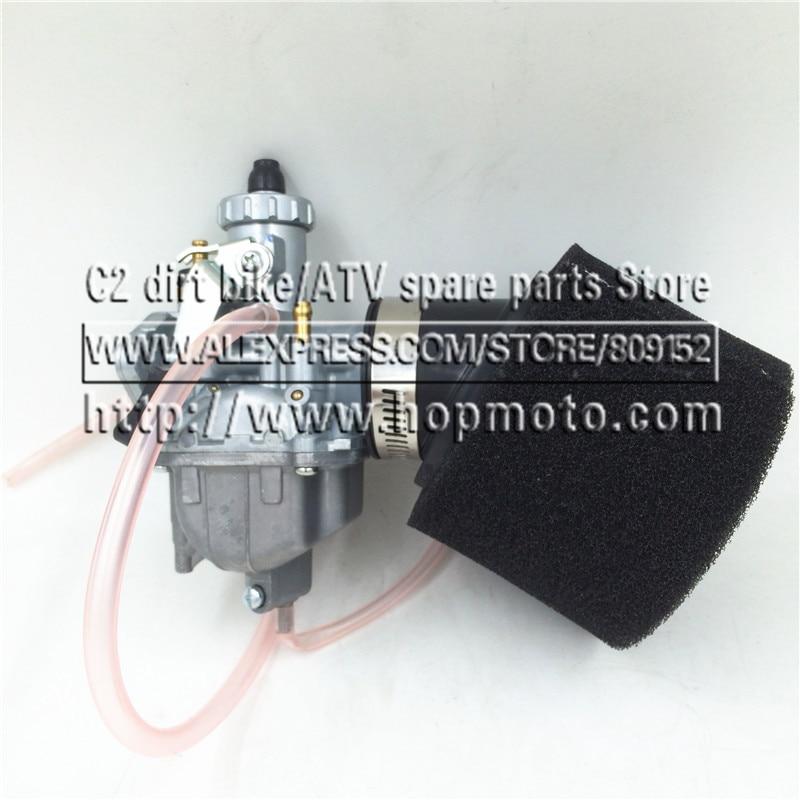 Carburador VM22 de 26mm + filtro de aire negro de 38mm para Lifan YX Zongshen 110cc 125cc motor chino Mikuni Pit Dirt Bike ATV