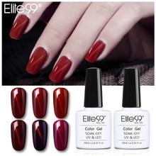 Elite99 10ml Gel de uñas efecto ojo de gato magnético Soak Off esmalte de uñas de Gel uv vino barniz rojo Primer capa superior Nail Art manicura Gel Lak