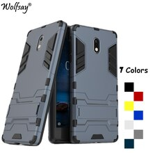 Wolfsay sFor kapak Nokia 3 silikon Robot zırh telefon kılıfı için Nokia 3 kapak için Nokia3 TA-1020 TA-1032 durumda 5.0 inç kabuk