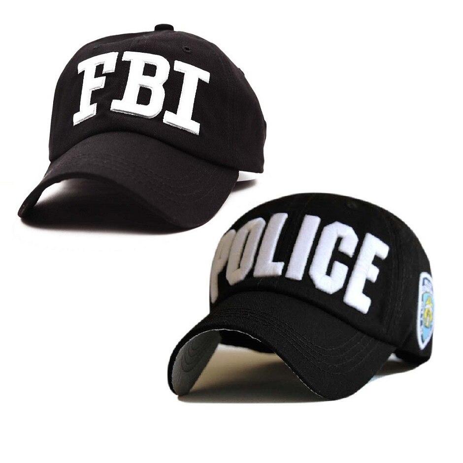 2 стильные бейсболки с вышивкой «POLICE», «FBI», с надписью, Snapback, головные уборы для мужчин и женщин, Кепка