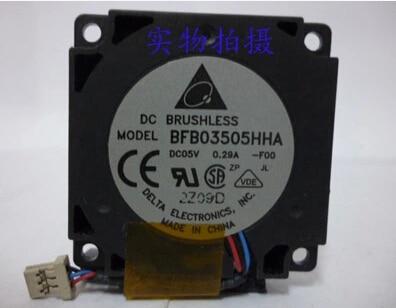 El original 35*35*10 5 V 0.29A BFB03505HHA 3 pines del ventilador centrífugo
