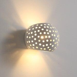 Modeen LED Wall Light Fixtures Creative Bedroom Lamp Bathroom Mirror Lights For Home Gypsum Lamps Wall Sconce Beside Wandlamp