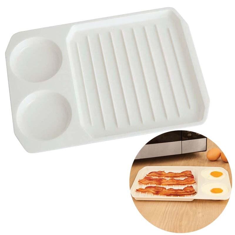2 в 1 кухонная микроволновая печь для яиц с беконом форма для выпечки на завтрак кухонная жаропрочная посуда, инструмент для Кулинария HFing