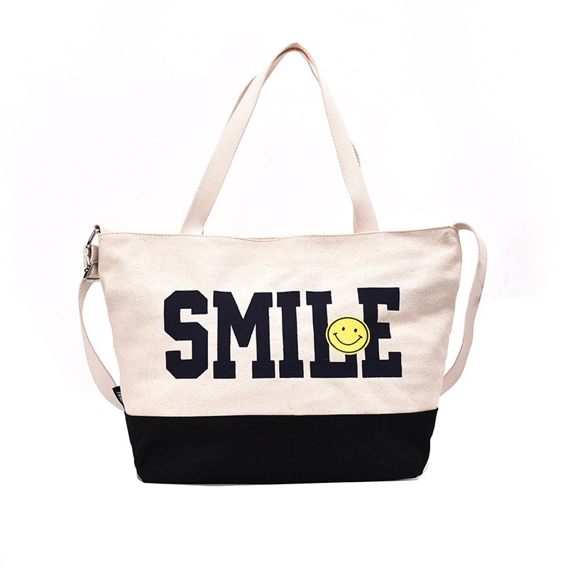 Women Tote Shopping Bags Simple Wild Sen Fashion Casual Large Capacity Popular Personality Ladies Folding Beach Bags