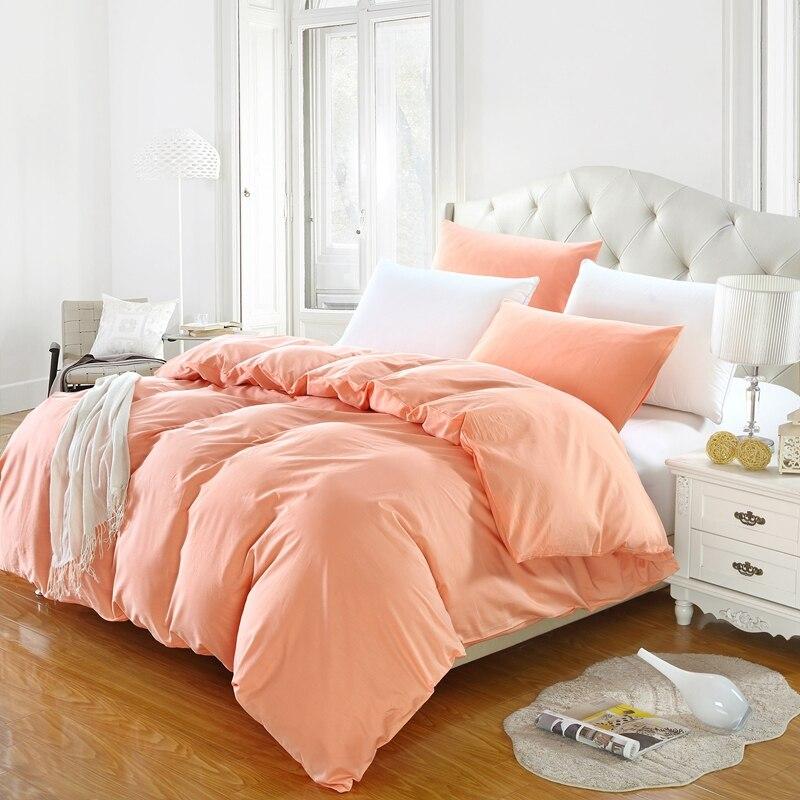 Housse de couette 100% coton couleur unie   1 pièce, housse de literie, simple, Double, pour reine ou roi, livraison gratuite