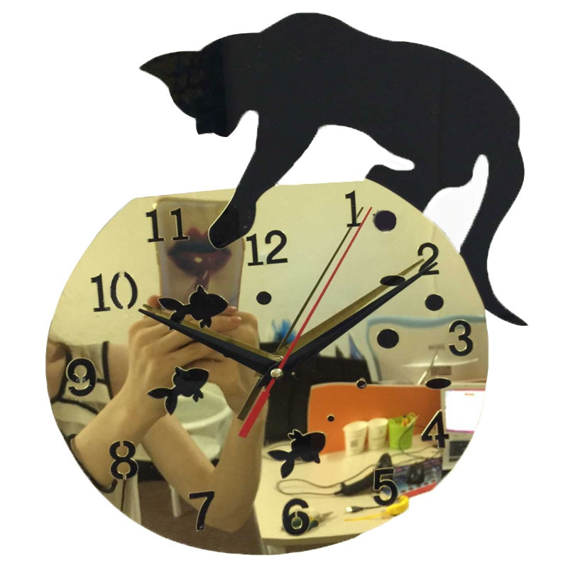 Oferta 2019, reloj de pared real, acrílico Pastoral 3d, pegatinas decorativas grandes, relojes, Relojes de pared, Relojes de pared, sala de estar, cuarzo