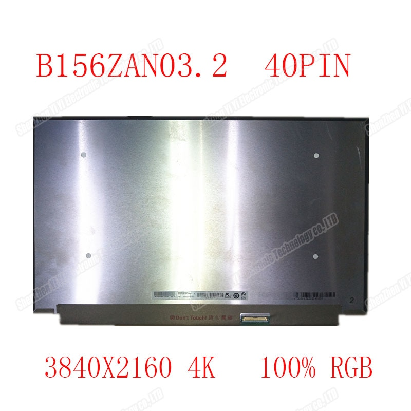 "15,6 ""UHD IPS pantalla LCD B156ZAN03.2 IPS 3840X2160 edp 40PIN 4K pantalla LCD"