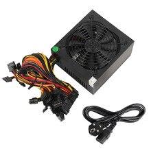 1600w Pc 전원 공급 장치 ATX 광부 전원 PSU ATX 마이닝 기계 지원 6 조각 그래픽 카드 GPU 광부 Antminer