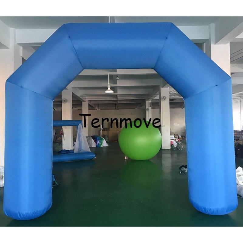 Arco inflable de 3,3x4 m con soplador sin impresión línea de acabado inflable carrera de inicio publicidad arco inflable
