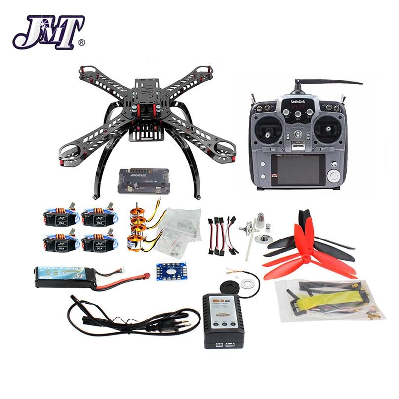 JMT 310 mm cadre en fibre de verre bricolage GPS Drone FPV Multicopter Kit Radiolink AT10 2.4G transmetteur APM2.8 1400KV moteur 30A ESC