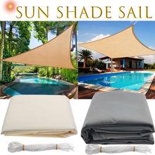 Imperméable abri soleil Triangle parasol Protection extérieur auvent jardin Patio piscine ombre voile auvent Camping ombre tissu grand