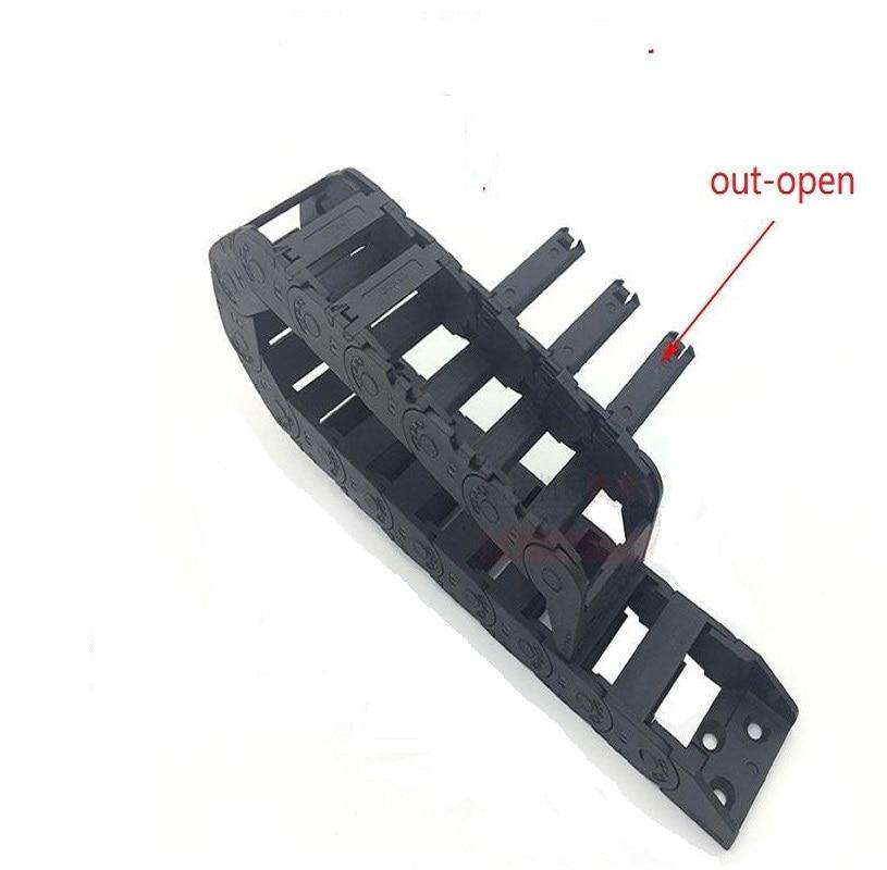 Livraison gratuite L1000mm 18x18 25 37 40 50mm Câble Glisser Support de Fil de Chaîne avec fin connecteurs pour CNC Routeur Machine Outils