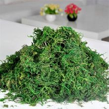 Natural 40g bolsa seca verde real moss plantas florero de césped artificial de seda flor accesorios para maceta Decoración