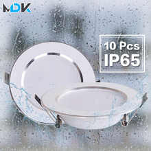 10 Pcs Lot Dimmable Waterproof LED Down Lights 5W 7W 9W 12W 15W 18W Downlight Outdoor Leds Ceiling Lamp For Bathroom Bulb