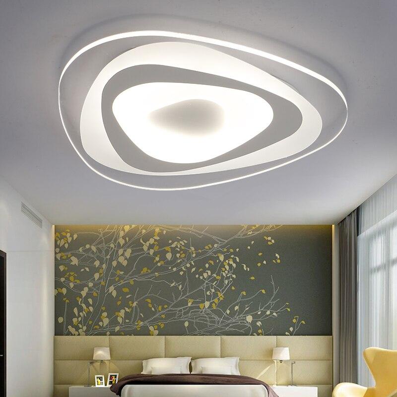Luces de techo triangulares ultradelgadas para lustres de dormitorio de sala hogar Dec techo de araña LED para sala de estar