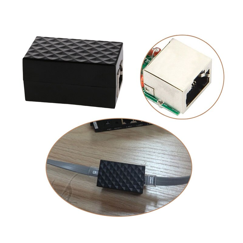 OOTDTY, pararrayos de aleación de aluminio blindado, adaptador de RJ-45, Protector de sobretensión Ethernet, dispositivo de protección de red