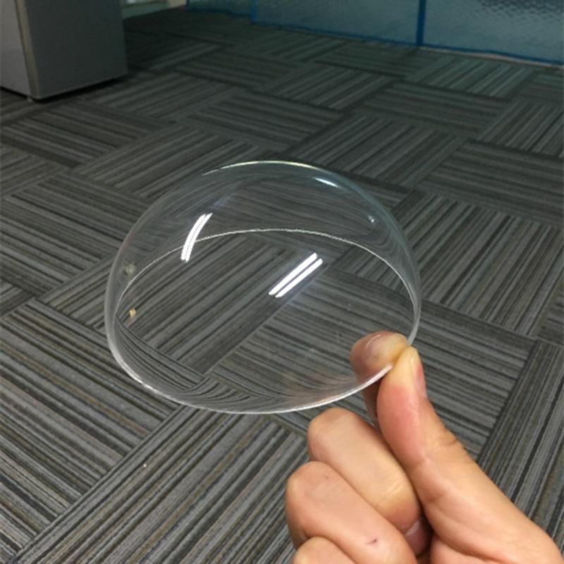 High quality transparent PMMA hemispherical half ball shape surveillance camera dustproof cover without flange