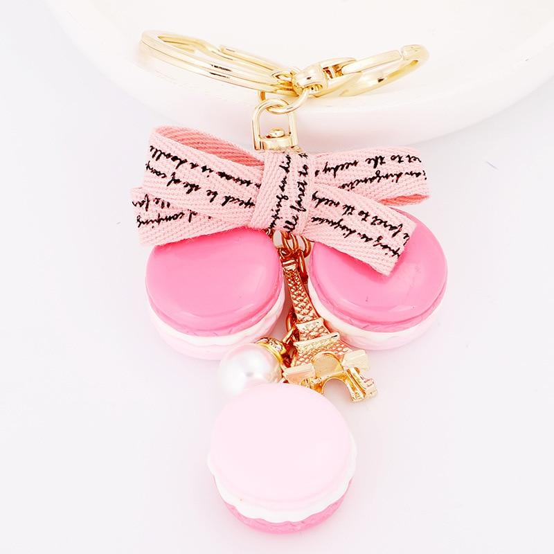 Linda Marca Dragon Cake llave cadena llavero mujer bolso encanto señoras moda llavero coche colgante de llavero regalos de cumpleaños