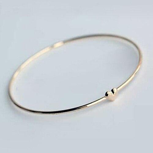 5 шт. женский тонкий браслет золотистого цвета, очаровательный браслет с сердечком, модные ювелирные изделия, подарок, оптовая продажа