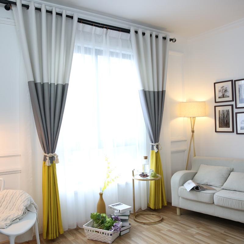 3 colores a rayas cortinas para el dormitorio de lino de algodón moderno cortinas para sala de estar cortinas persianas para ventanas