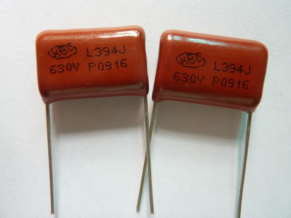 20 sztuk CBB 394 630V 394J CBB21 0.39uF 390nF P20 folia polipropylenowa metalizowana kondensator