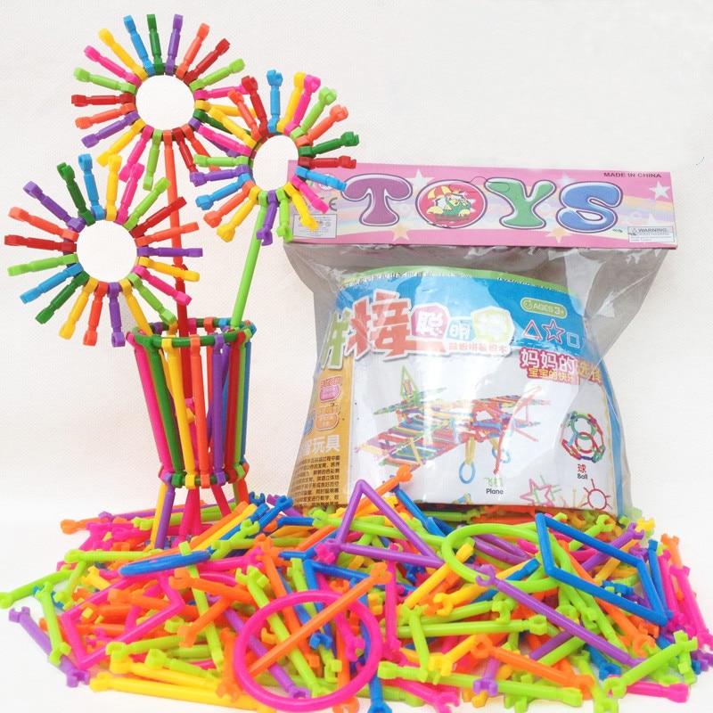 250 Uds rompecabezas de construcción ensamblados DIY palo inteligente rompecabezas de plástico Imagenation y creatividad juguetes educativos para niños