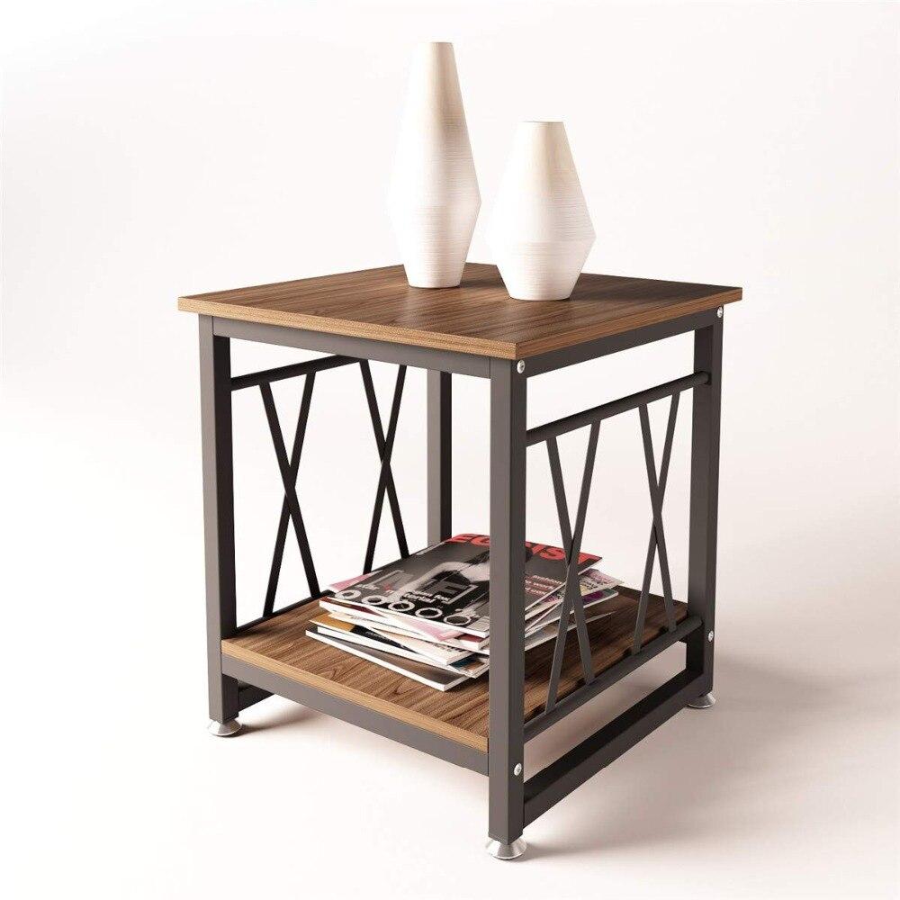 Mesas laterales de café muebles para sala de estar dormitorio mesa de café modernas mesas sofá Elm madera para el hogar