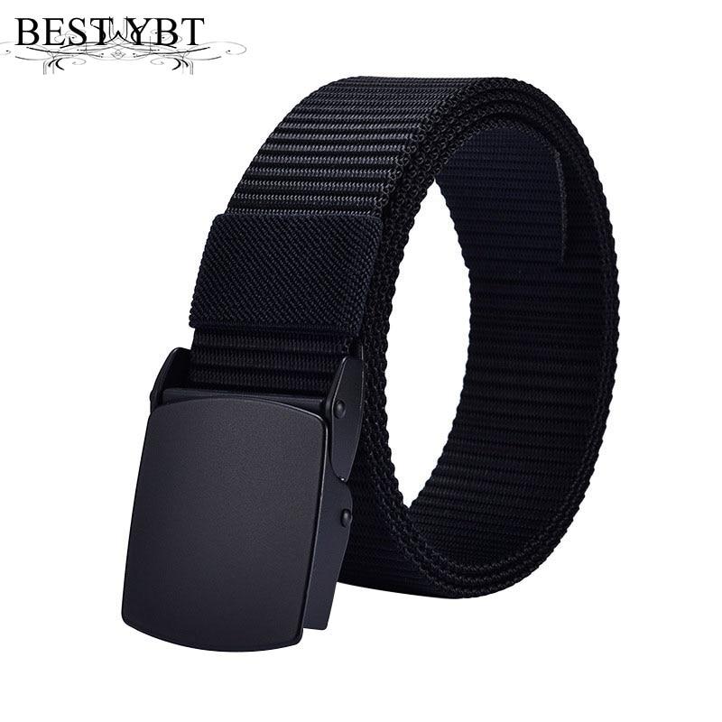 Best YBT Unisex Belt Nylon Alloy Smooth buckle Women Belt High Quality Casual Fashion comfortable Adjustable Men Belt