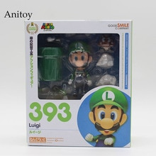Super Mario Bros Wii Figure Mario #473 / Luigi #393 Action Figure Party Decoration Toy 10cm KT3282