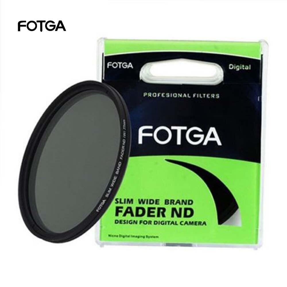FOTGA Fader Variable ajustable Delgado Neutral densidad Filtro de lente ND ND2 a ND400 43/46/52/55/58/62/67/72/77/82/86mm para Nikon