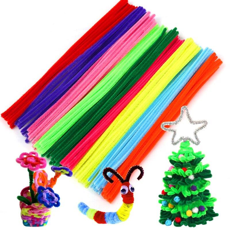 Varilla de felpa creativa para niños, 100 Uds., decoraciones para fiesta de...