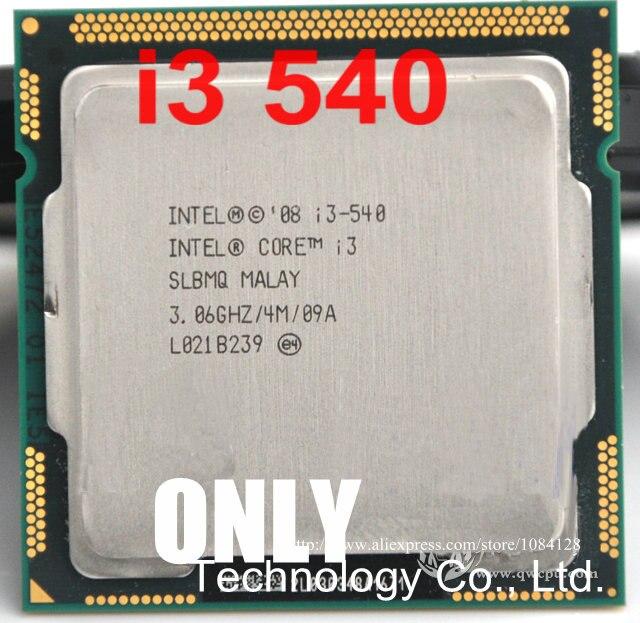 Kostenloser versand intel Core i3 540 Prozessor 3,06 GHz 4 MB Cache LGA1156 Desktop CPU