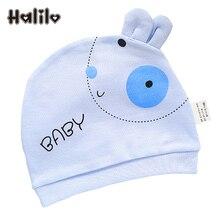 Halilo Unisex Cotton 0-3 Months Newborn Baby Hats Cartoon Boy Girl Hat Pink Yellow Blue Girls Caps New Born Baby Accessories