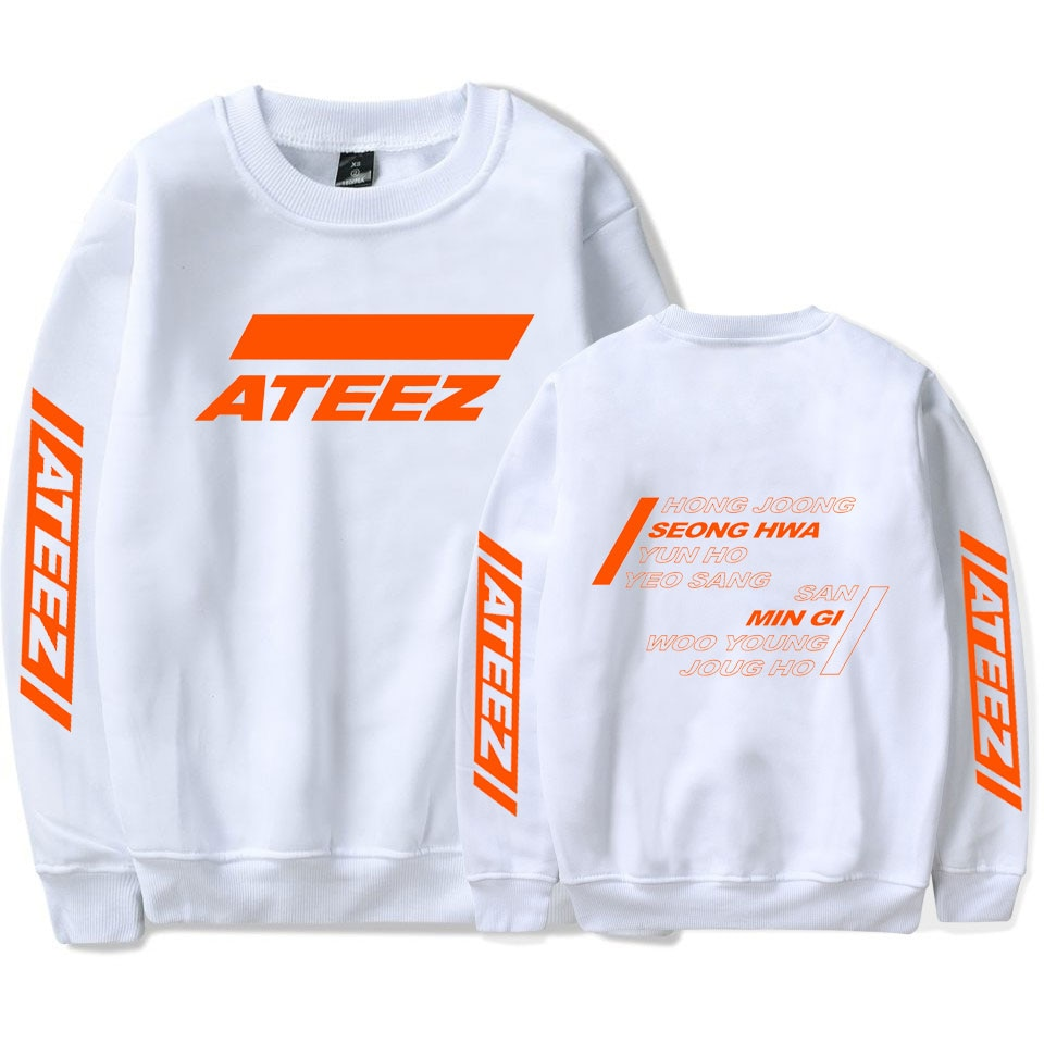 Kpop ATEEZ Capless Long Sleeves Hoodies Sweatshirts Hongjoong Seonghwa Yunho Yeosang San Mingi Wooyoung Jongho