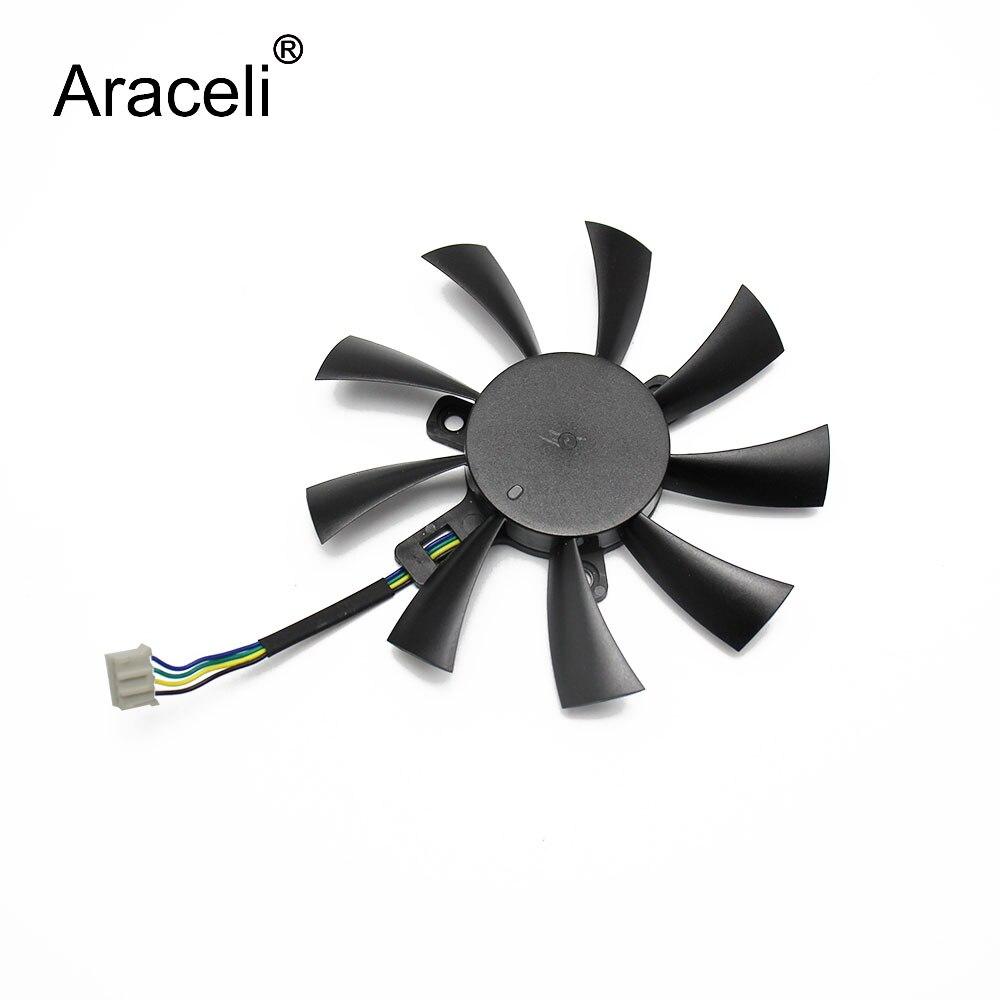 GAA1S2U GAA1O2U DC12V 0.35A For DATALAND PowerColor R7 360 260X VGA Fan For Sapphire R7 360 2G D5 OC Graphics Card Cooling Fan
