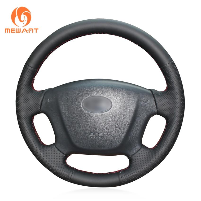 MEWANT funda de volante de coche de cuero Artificial negro para Kia Carens 2007-2011 Rondo 2007-2010 Hyundai Entourage 2007-2008