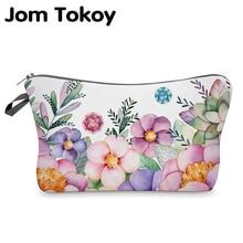 Jom Tokoy cosmétique organisateur sac maquillage fleurs impression 3D sac cosmétique mode femmes marque maquillage sac