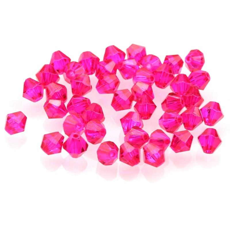 2018 cristal fúcsia bicone grânulos encantos jóias grânulos solto espaçador grânulos para fazer jóias lamwork casamento vestido decoração