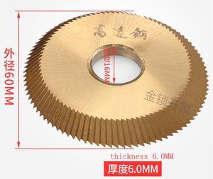 Image 3 - Титановый defu 16x60x6 мм Фрезерный резак для 238BS/2AS/Φ горизонтальный фрезерный резак 60*16*6 мм