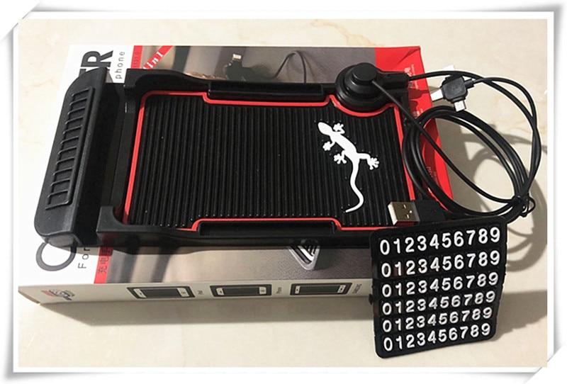 Tarjeta de aparcamiento de coche tapete antideslizante cargador de coche para Lada Priora Kalina Granta Vesta Niva Largus vaz x-ray samara 2106 2107 2110 Sedán