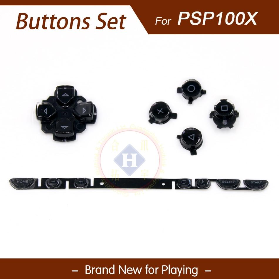 Juego de botones de teclado izquierdo y derecho de reemplazo negro HOTHINK para consola PSP 1000/PSP 100X 1001 1004 1008 1007