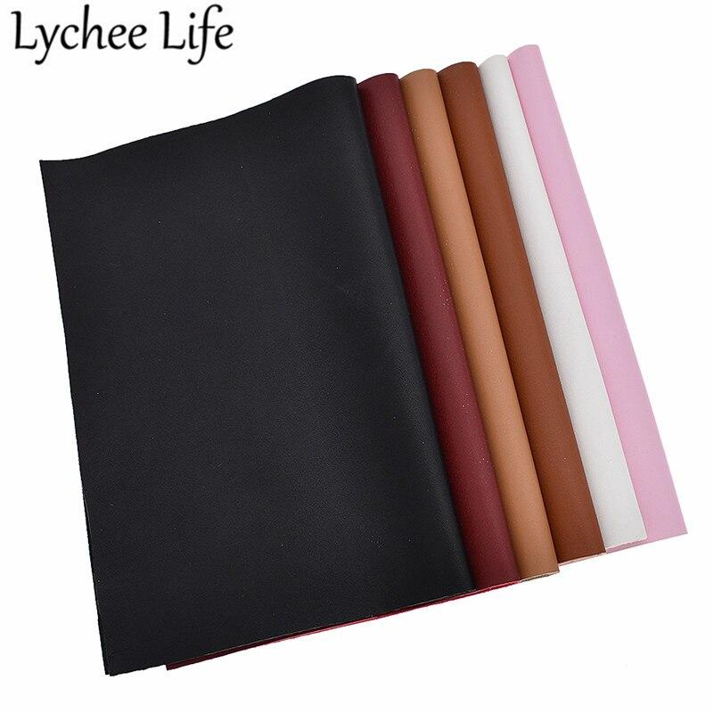 Lychee Leben A4 Weiche Glatte Faux Leder Stoff Einfarbig 29x21cm PU Stoff DIY Handgemachte Nähen Kleidung dekorative Liefert