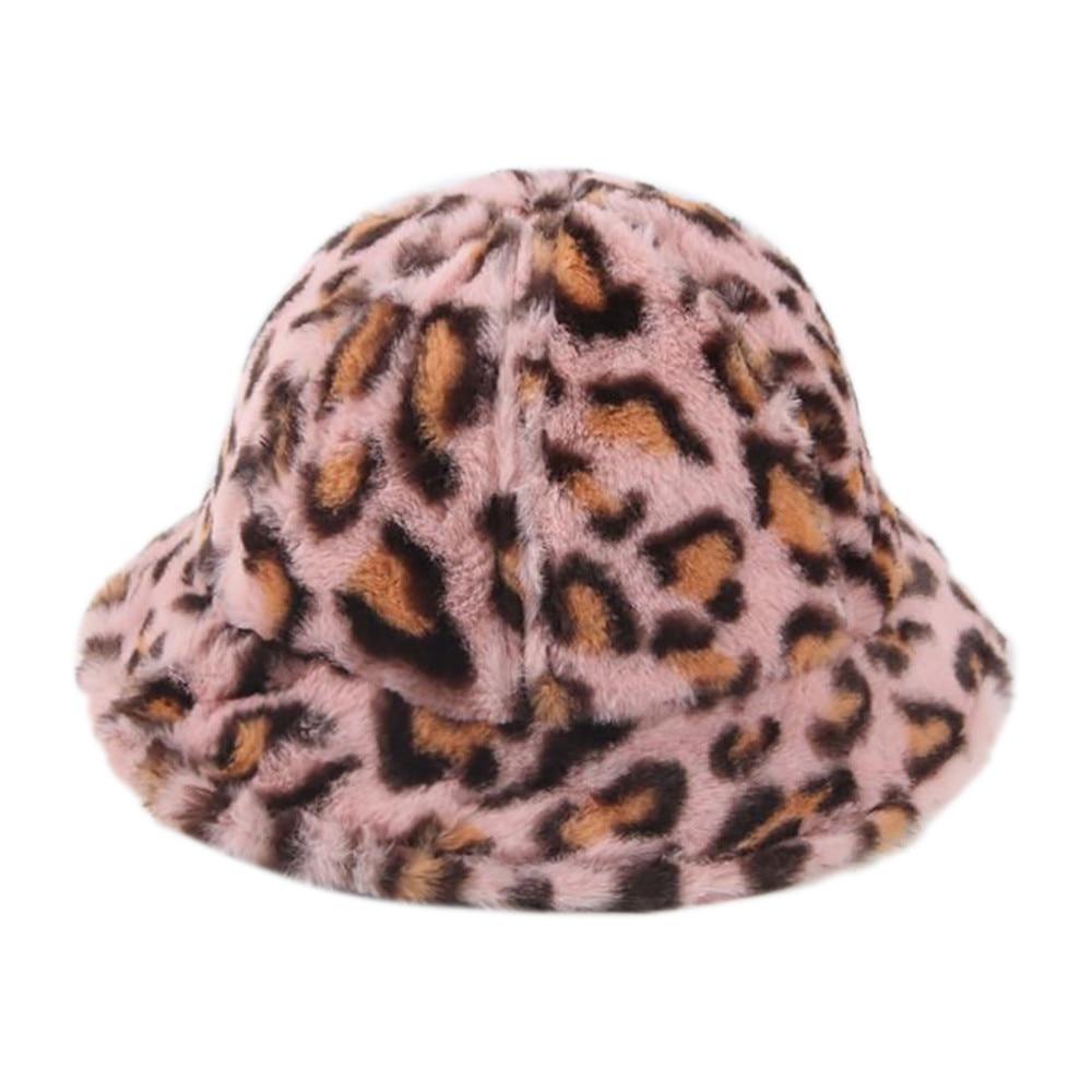Invierno sombrero de pescador de Chico y Chica de la moda sombrero con diseño de leopardo sombrero de Bob Kapelusz cubo sombrero Gorro de Invierno Hombre