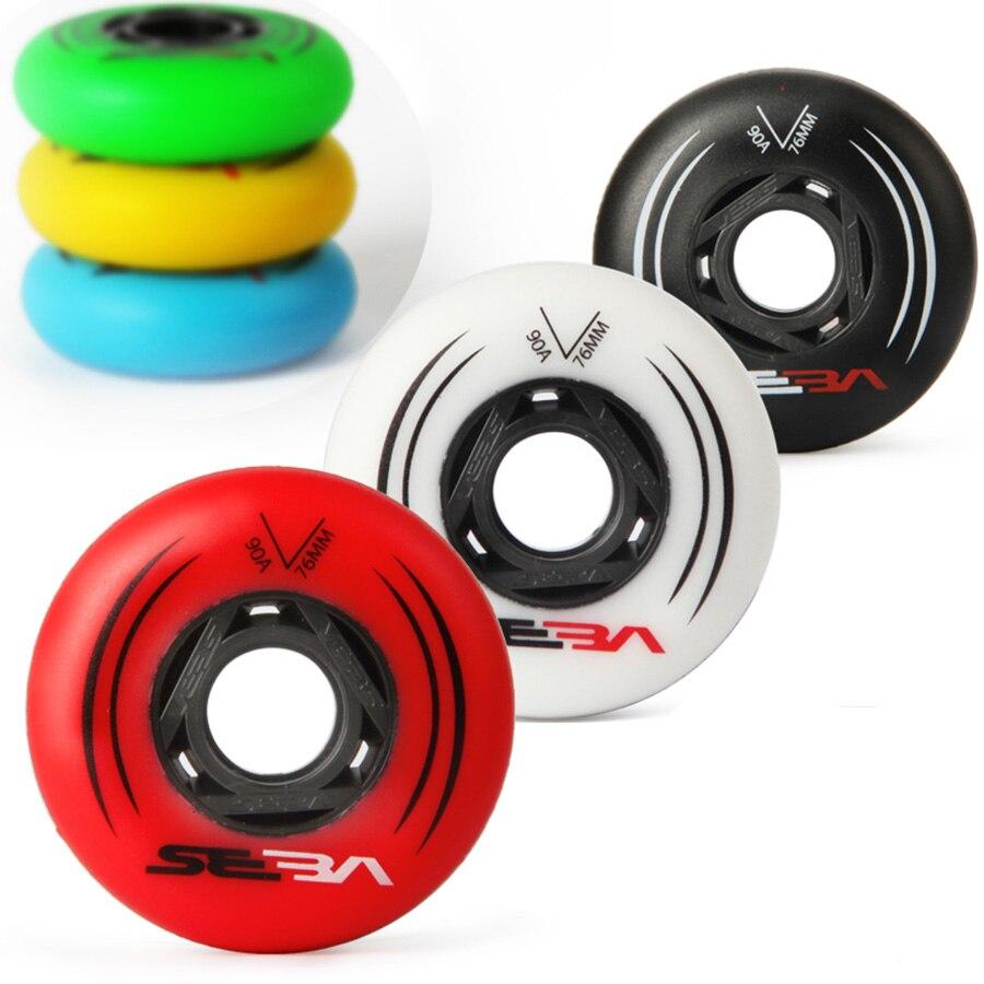 100% Оригинальные SEBA роликовые колеса 85A для Slalom и 90A для катания на роликах 72 76 80 мм 8 шт./компл. шины для катания на коньках