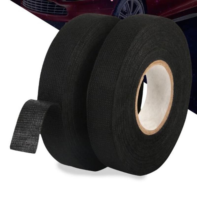 Bande adhésive pour harnais de câblage   Autocollant de voiture, bande résistante à la chaleur, bande pour câblage, bande en tissu, Protection des câbles adhésive 19mm x 15M