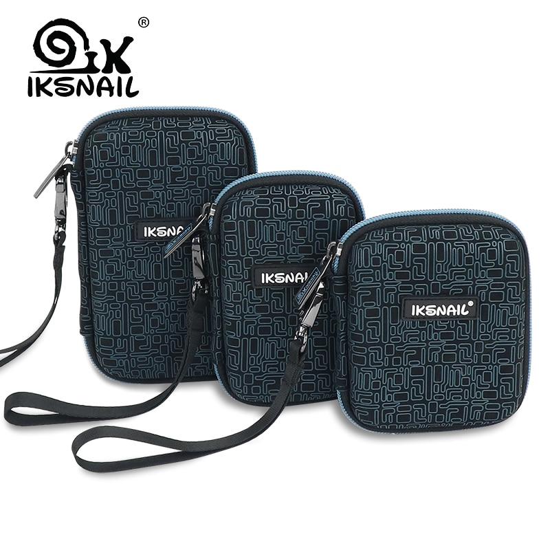 Iksnail único power bank caso caixa dura para 2.5 disco rígido usb cabo de armazenamento externo transporte ssd hdd digital sacos
