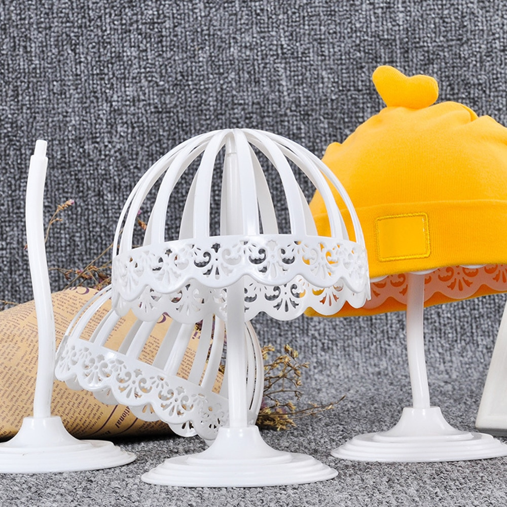 Branco plástico bebê chapéu tampas armazenamento titular cremalheiras capacete expositor organizador prateleira para loja de bebê (40-50cm perímetro)