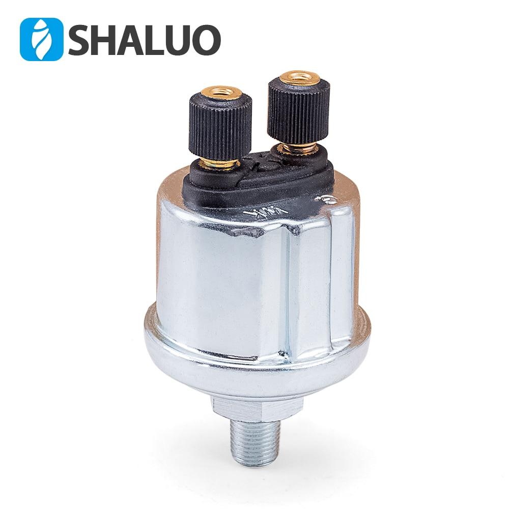 Universal VDO Oil Pressure Sensor 0 to 10 Bars 1/8NPT Diesel generator part 10mm stainless crew plug Alarm pressure sensor